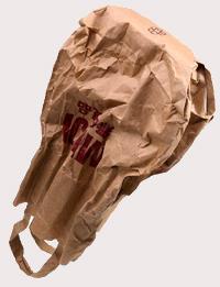 bolsa de papel o un saco pequeño
